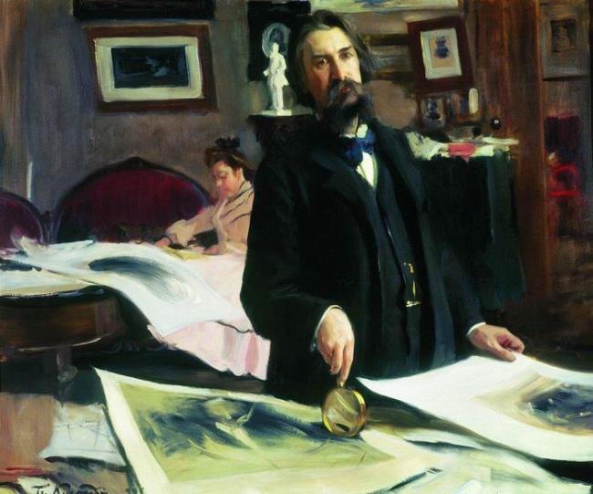 Portrait of Professor of Engraving V.V. Mate. 1902