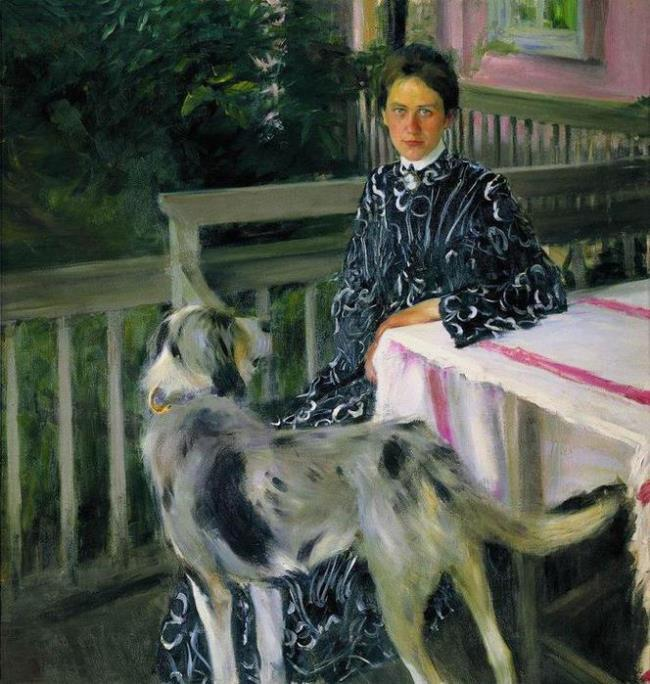 Portrait of Yu.E. Kustodieva. 1903