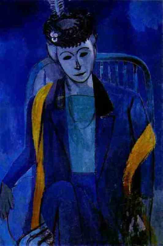 Portrait of the artist's wife. 1912-13