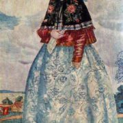 Sketch of Katerina's costume for the drama by A. Ostrovsky The Thunderstorm, 1920