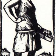 Street saleswoman. 1926