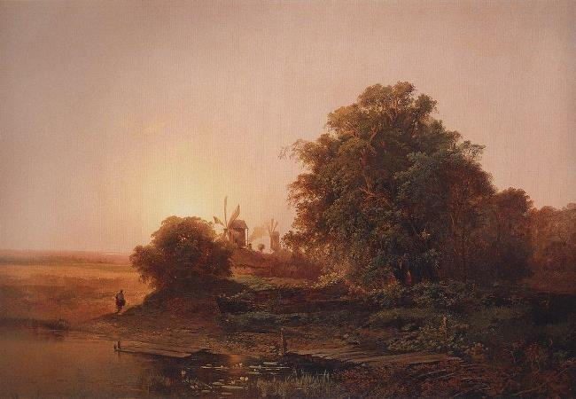 Summer landscape with mills. 1859