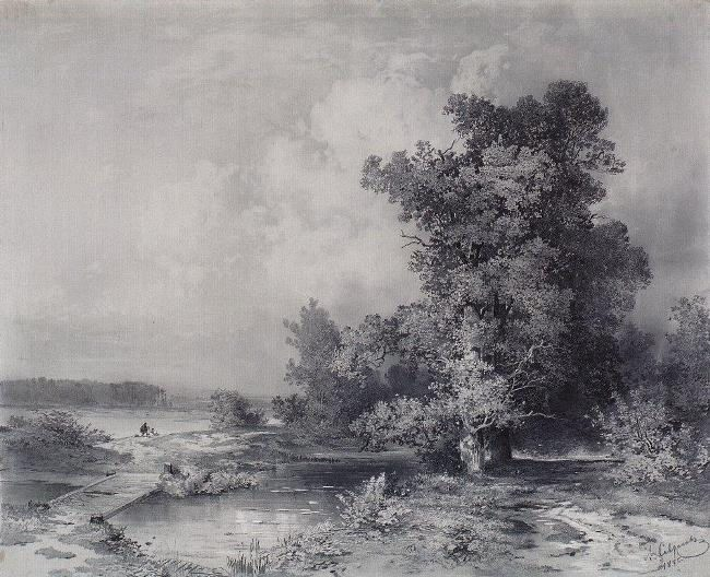 View in the village of Kuntseve near Moscow. 1855