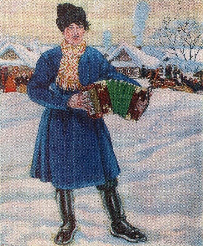Village Maslenitsa. 1916