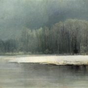 Winter landscape. Frost. 1870