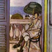 Woman with an umbrella. 1919-20