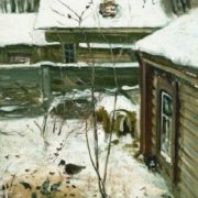 Yard. Winter