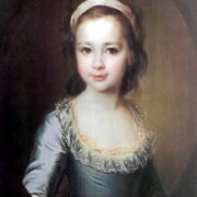 A.A. Vorontsova in her childhood