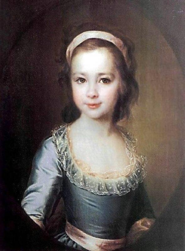A.A. Vorontsova in her childhood