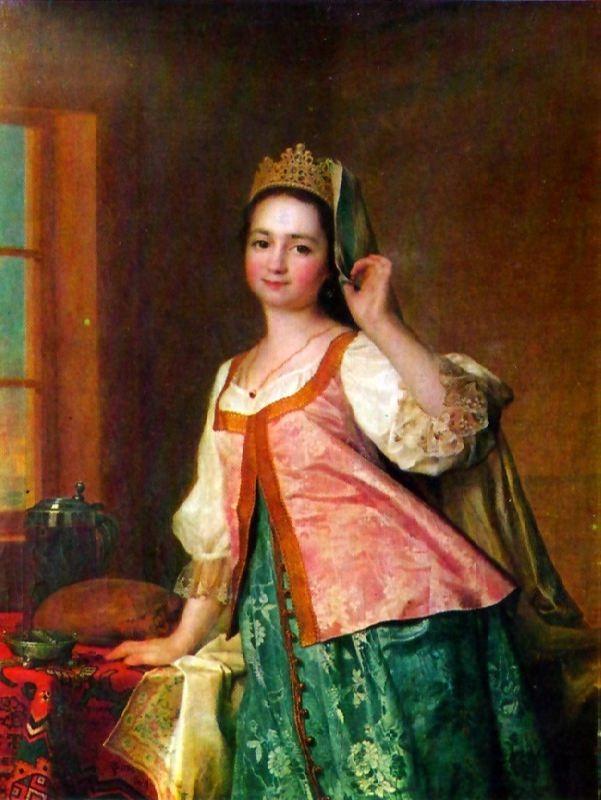 A.D. Levitskaya, the artist's daughter. 1785