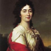 Anna Stepanovna Protasova, a former chamber-maid of honor of Empress Catherine II, 1800