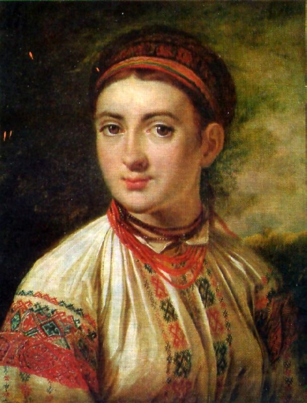 Beautiful Ukrainian girl. Early 1820s