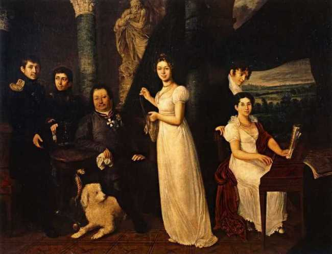 Family portrait of the Morkovs, 1813
