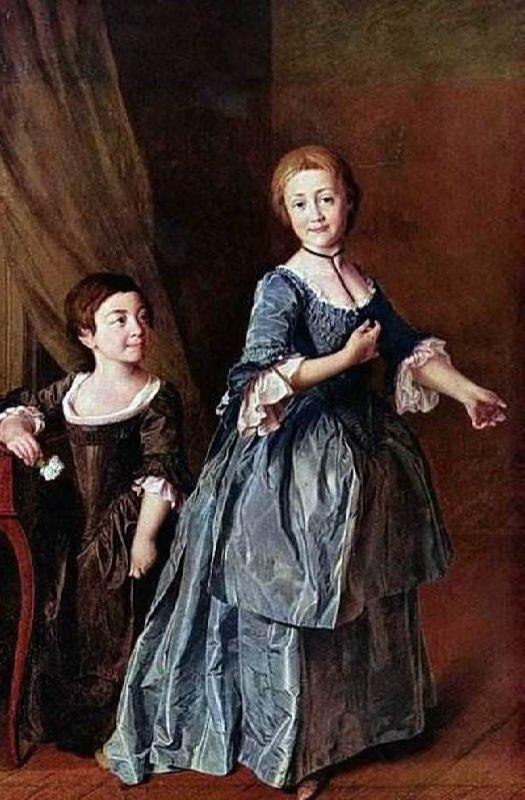 Feodosia Rzhevskaya and Princess Nastasia Davydova, 1772