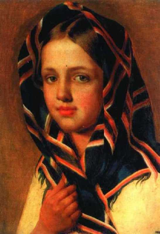 Girl in a scarf, Russian Museum