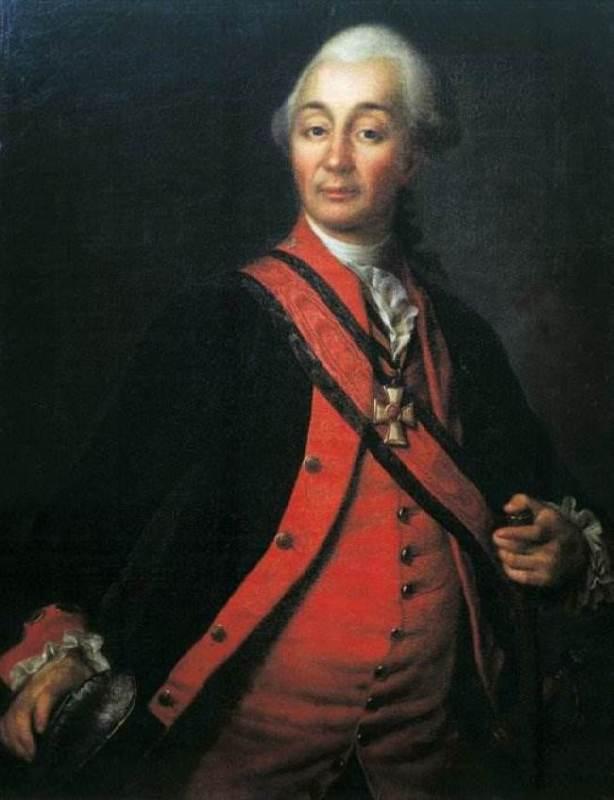 Great commander Alexander Vasilyevich Suvorov, 1786