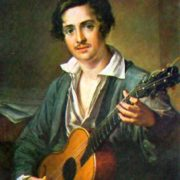 Handsome Guitarist. 1823