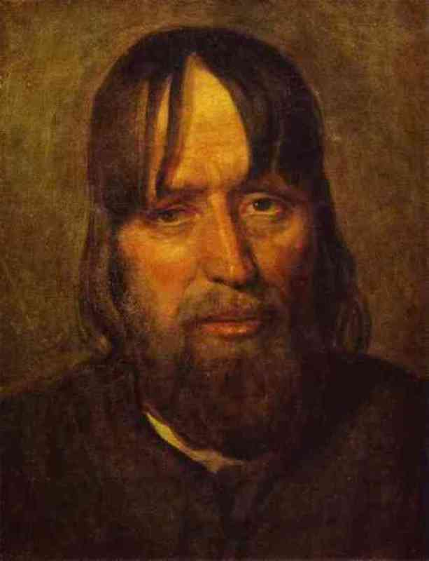 Head of the old peasant, 1825, the State Tretyakov Gallery