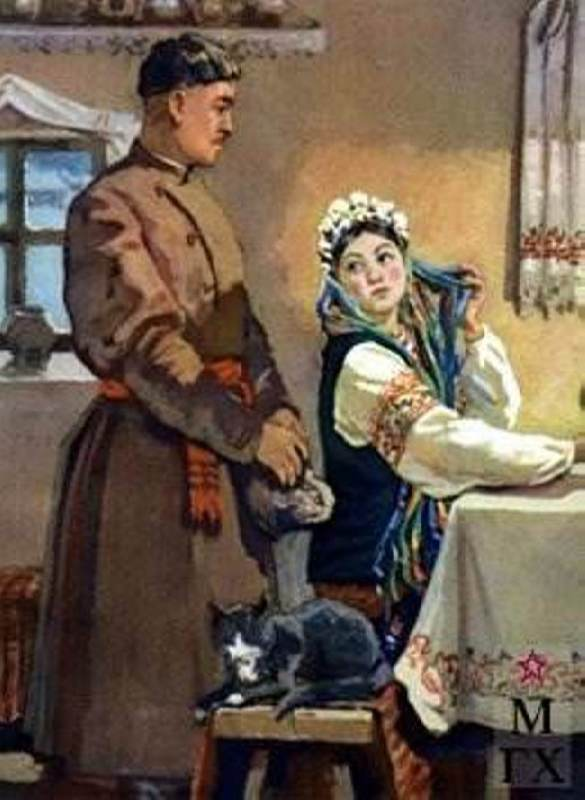 Interesting illustrations for N.V. Gogol's Christmas Eve