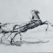 Jockey on horseback