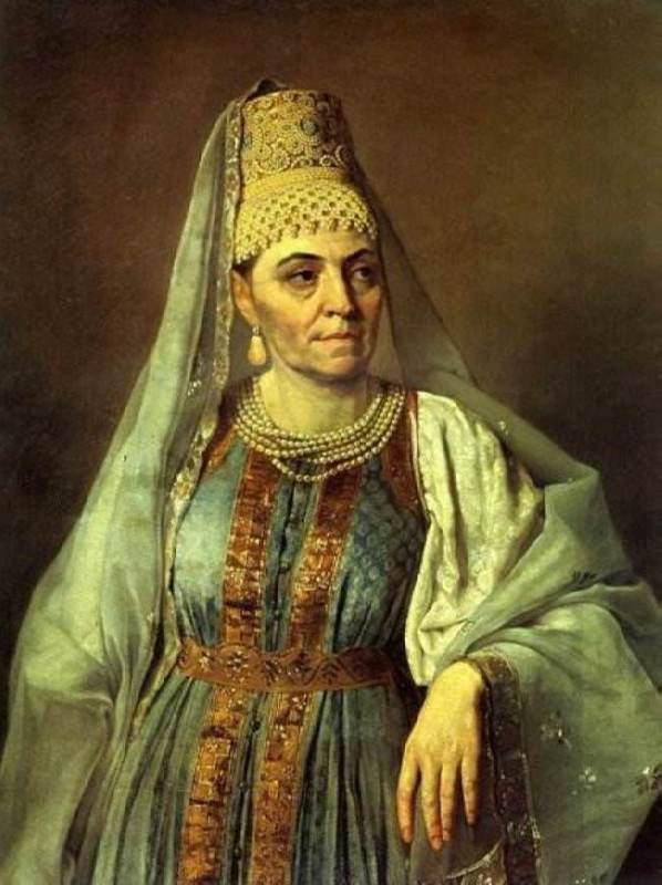 M.A. Venetsianova in Russian costume