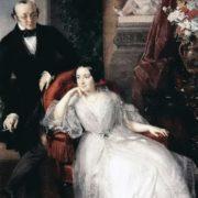 Nikolai Ivanovich and Nadezhda Mihailovna Ber. 1850