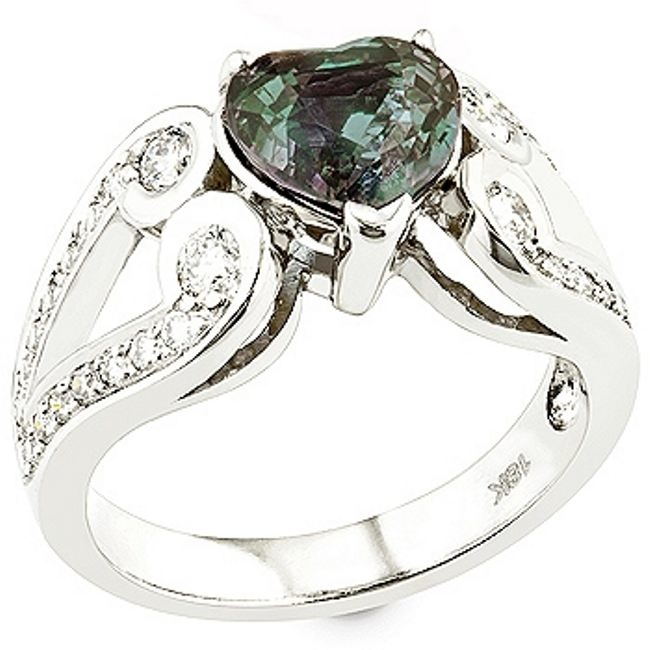 Original ring with alexandrite