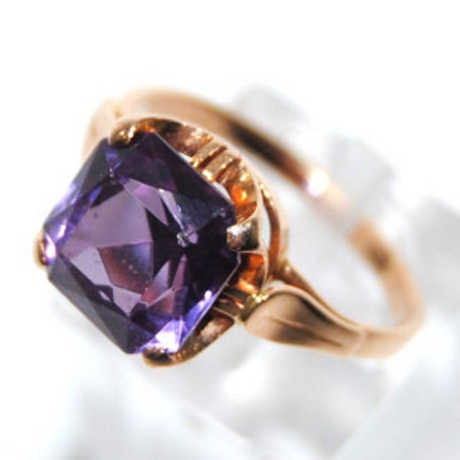Stunning ring with alexandrite