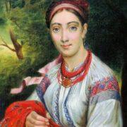 Ukrainian girl, 1820s