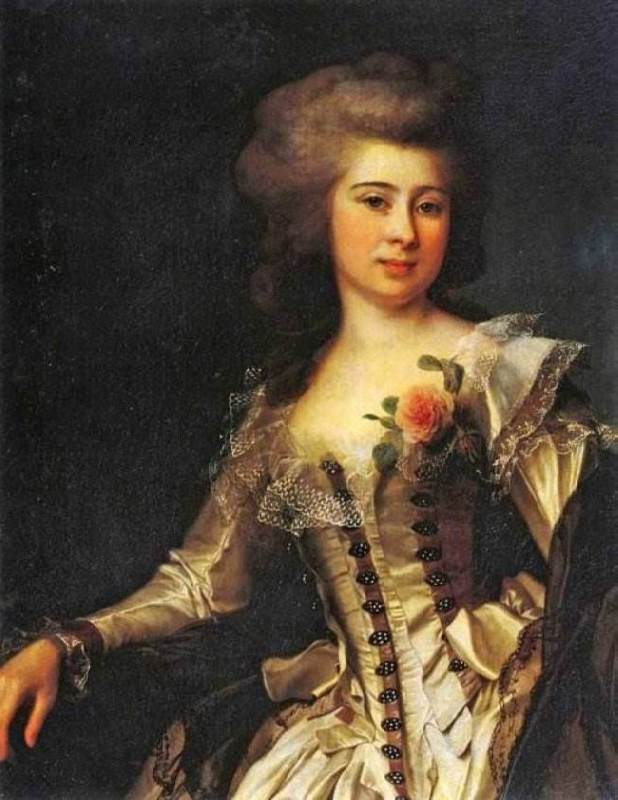 Unknown Woman with a Rose, 1788