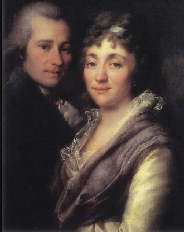 V.I. Mitrofanov and his wife, M.A. Mitrofanova