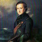 Writer Yuri Fedorovich Samarin in a hunting suit. 1846