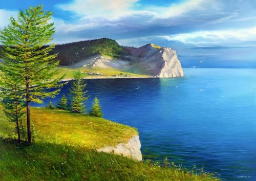 Baikal in the works of Sergey Belov. Olkhon Island