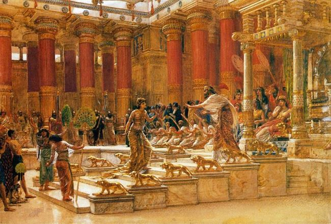 Edward Poynter, 1890, Visit of the Queen of Sheba to King Solomon
