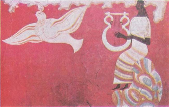Fresco. Pylos, XIII century BC Reconstruction of P. de Jong