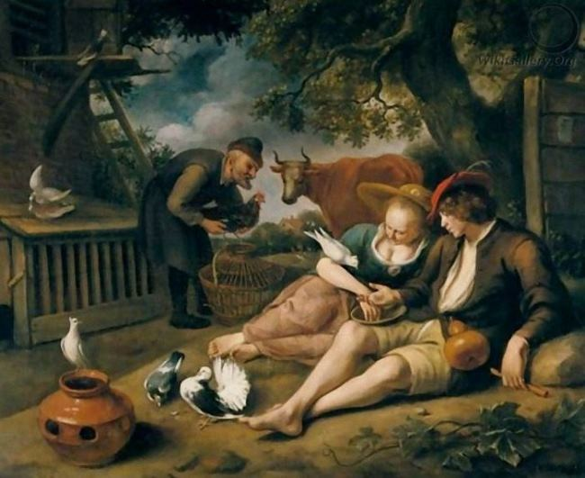 Jan Steen De Duiventil. An Allegory Of Love