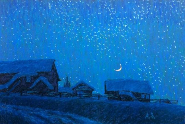 Northern night. Zuev Alexey
