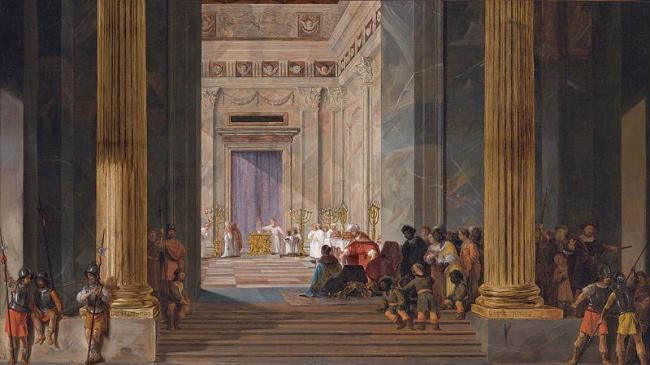 Salomon de Bray. The Queen of Sheba before the temple of Solomon in Jerusalem