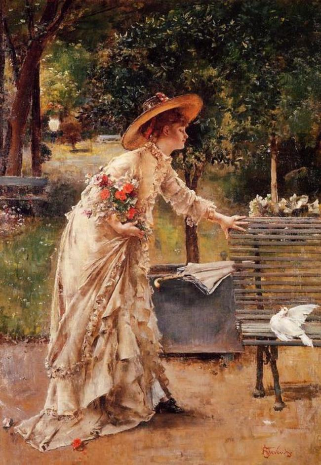 Stevens Alfred. Afternoon in the Park