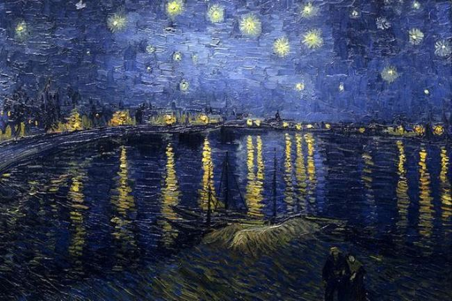 Vincent Van Gogh. Stars over the Rhone